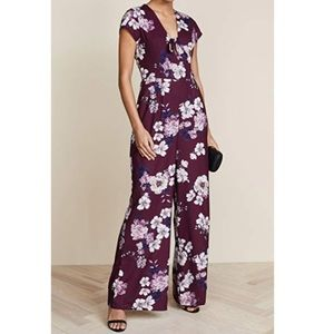 anthropologie // yumi kim floral cutout jumpsuit